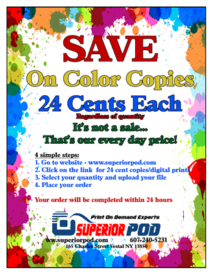 24 Cent Color copies